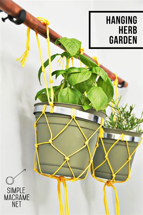 diy hanging herb garden diy hanging herb garden the nest east coast creative blog