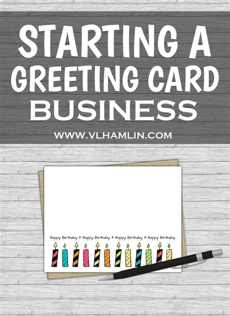how to start card starting a greeting card business food design
