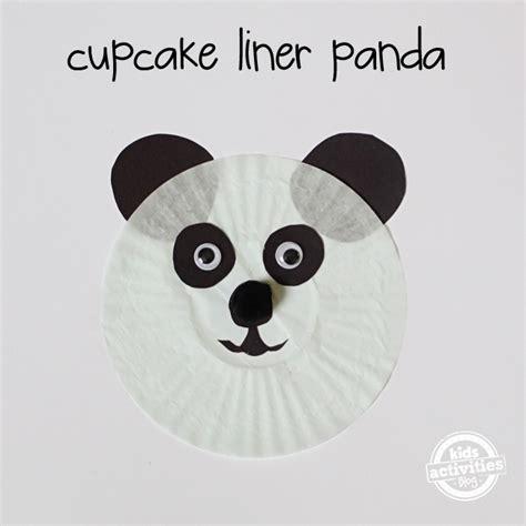 panda crafts for panda cupcake liner craft