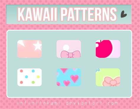 pattern photoshop kawaii kawaii patterns for photoshop by infinitekami on deviantart