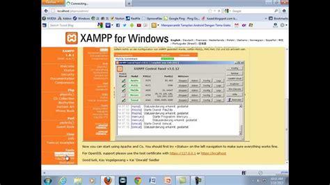 cara membuat website di xammp tutorial cara buat website dengan cms joomla di xampp