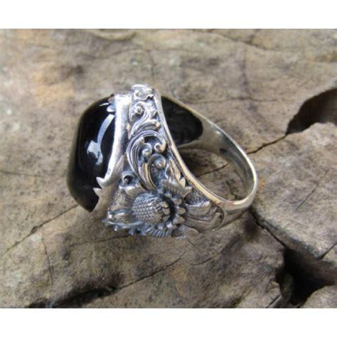 Cincin Perak Motif Ukiran Bali Patra Batu Torquise cincin perak motif ukiran patra bunga bali batu blackonyx cincin perak motif ukiran patra