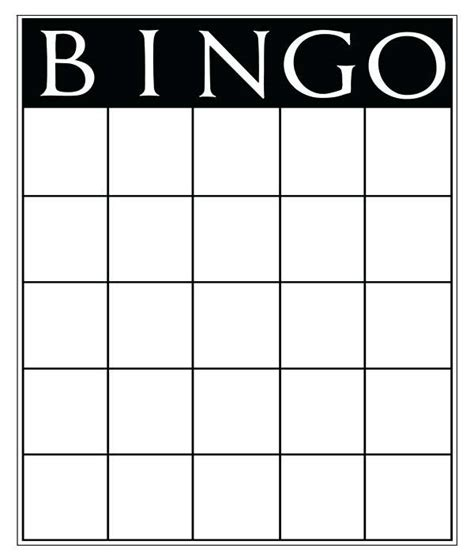 microsoft word bingo card template bingo card template word blank bingo card template