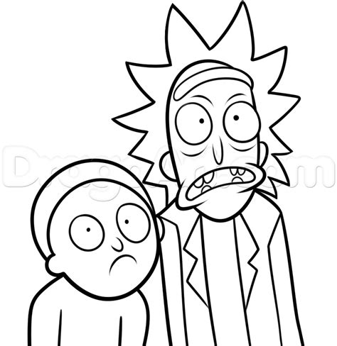 1 rick and morty coloring book books how to draw rick and morty step by step network