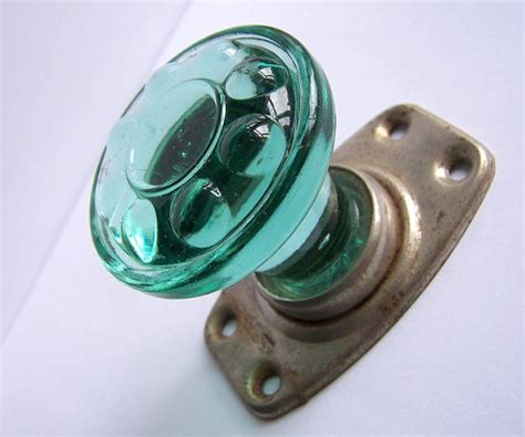 Green Glass Door by Vintage Green Glass Door Handle Door Knob Home Decor