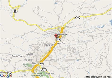 california map nevada city nevada city california map california map