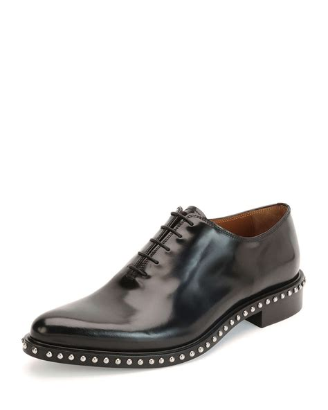 givenchy pirro lace up studded shoe in black for lyst