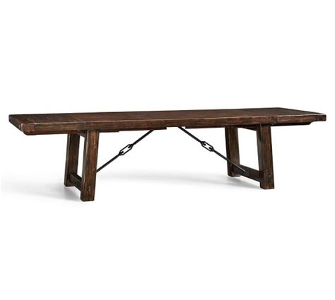Extending Wood Dining Table Benchwright Extending Dining Table Pottery Barn