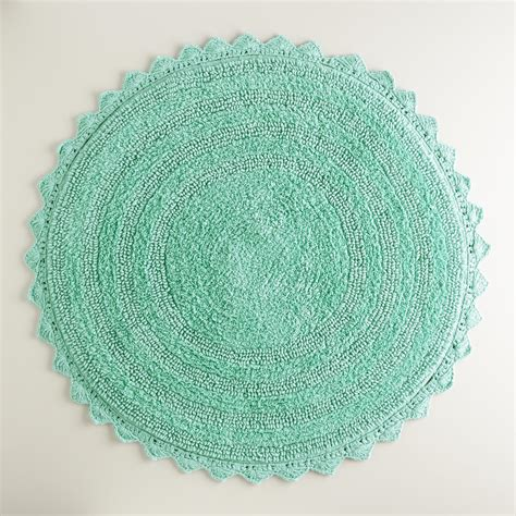 Circle Bathroom Rugs Sea Blue Bath Mat World Market