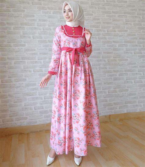 Baju gamis katun jepang terbaru mariana pink   Baju Gamis