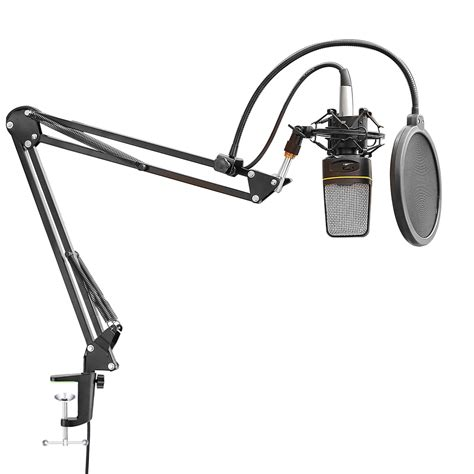 Arm Stand Suspensi Mikrofon Black neewer nw 35 mic suspension boom scissor arm stand w cable shock mount cl ebay