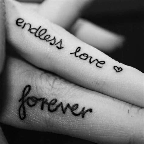 endless love tattoo on finger couples tattoos endless love forever ink bodyart