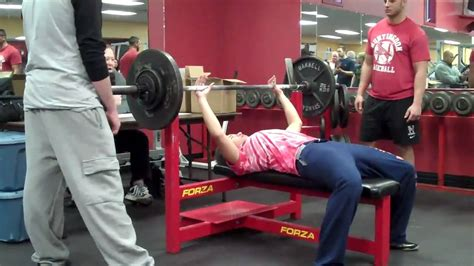max bench record 16 year old girl state record bench press youtube
