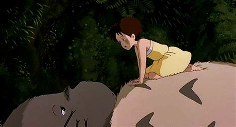 membuat gif ukuran kecil my neighbor totoro hayao miyazaki satsuki anime gif