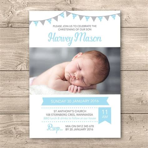 baby dedication card template best 25 christening invitations boy ideas on
