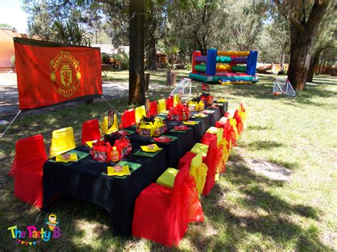 Man Home Decor Manchester United Themed Party Cape Town The Party B