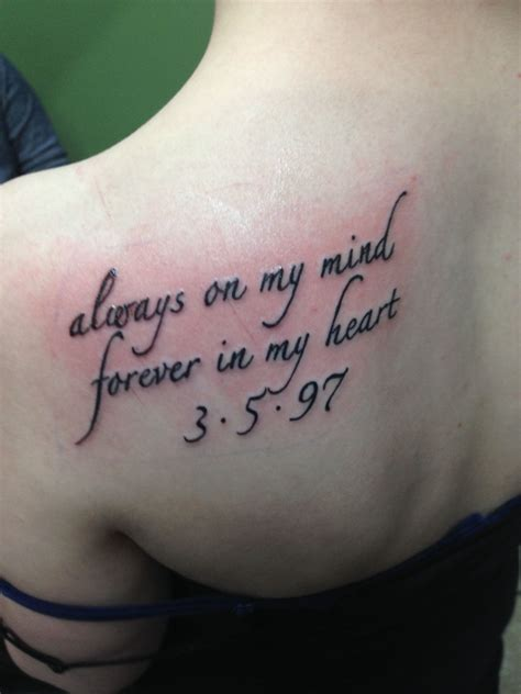memorial tattoos for best friend got this in memory of my who away from
