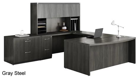Home Office U Shaped Desk Mayline At10 Aberdeen U Shape Home Office Desk