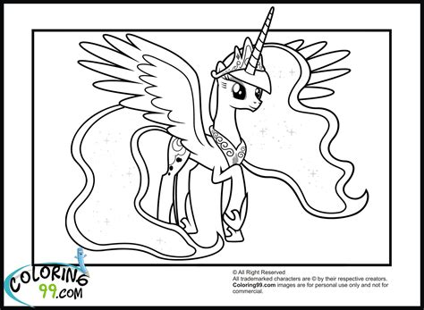 coloring page my little pony princess my little pony princess luna coloring pages team colors