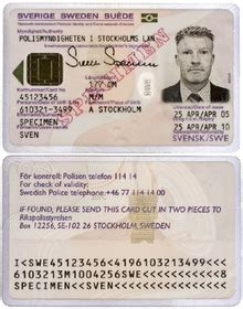 german id card template national identity card sweden