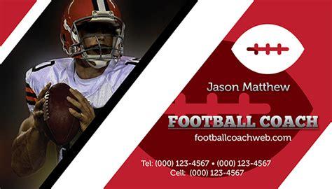 football business card templates football coach business card template on behance