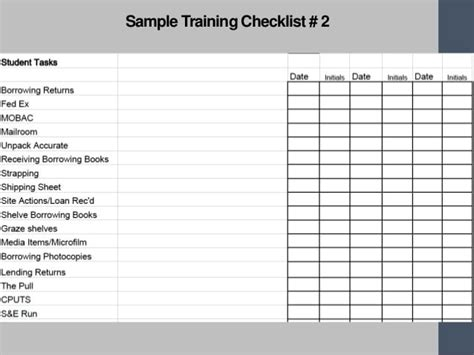 Training Checklist Templates Find Word Templates Service Employee Program Template