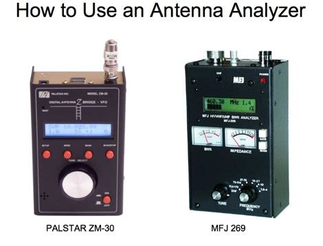 how to a sniffer how to use an antenna analyzer resource detail