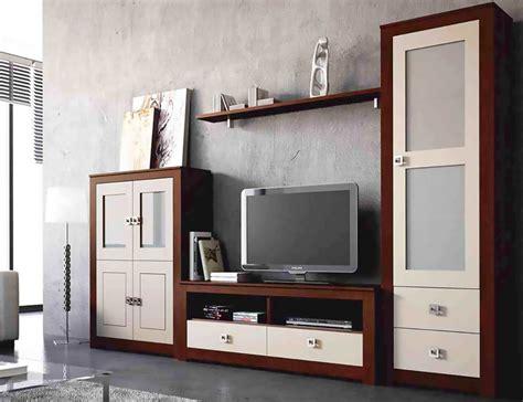 mueble de salon modular lacado en blanco  piedra en