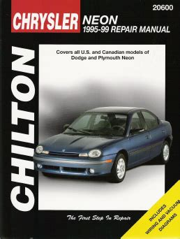 online car repair manuals free 1995 plymouth neon instrument cluster 1995 1999 dodge plymouth neon chilton s total car care manual