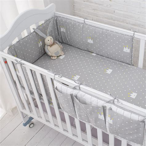 bed bumpers for baby ᗔmuslinlife little grey crown ξ bedding bedding set baby