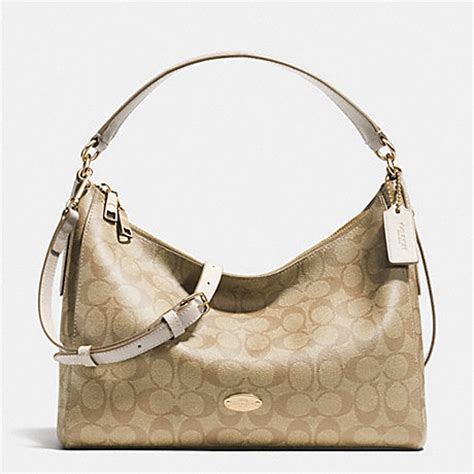 Coach Celeste Hobo Sign Khaki Chalk 2 coach f34899 east west celeste convertible hobo in signature handbags coach anyhandbag