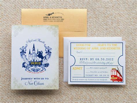 vintage travel themed wedding invitations vintage travel wedding invitations new orleans onewed