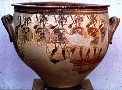 Mycenaean Warrior Vase by Siias Csi Civilization Early