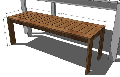 how to make bench seat benches outdoor plans simple home decoration