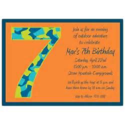 Birthday boy camo 7th birthday invitations paperstyle