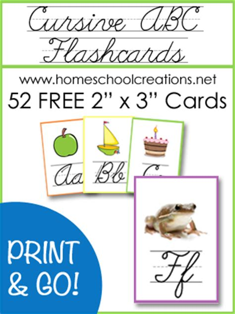printable cursive alphabet flash cards freebie cursive abc flashcards and posters