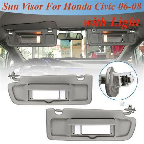 front leftright car lhd sun visor driverpassenger side sunshade sun shield  light