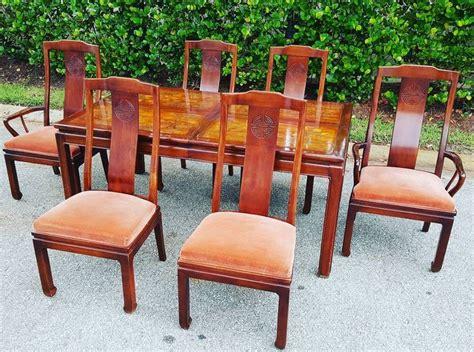 stunning bernhardt asian style dining room set furniture