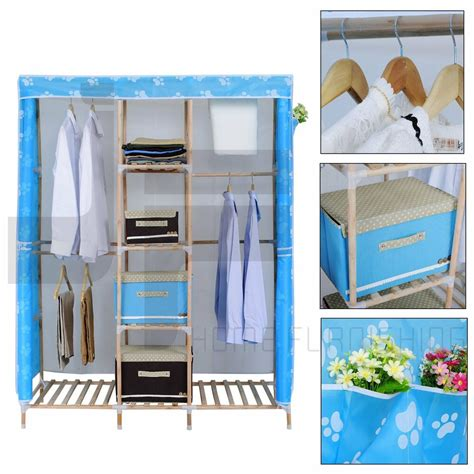 canvas and wood wardrobe wood canvas wardrobe bedroom furniture clothes