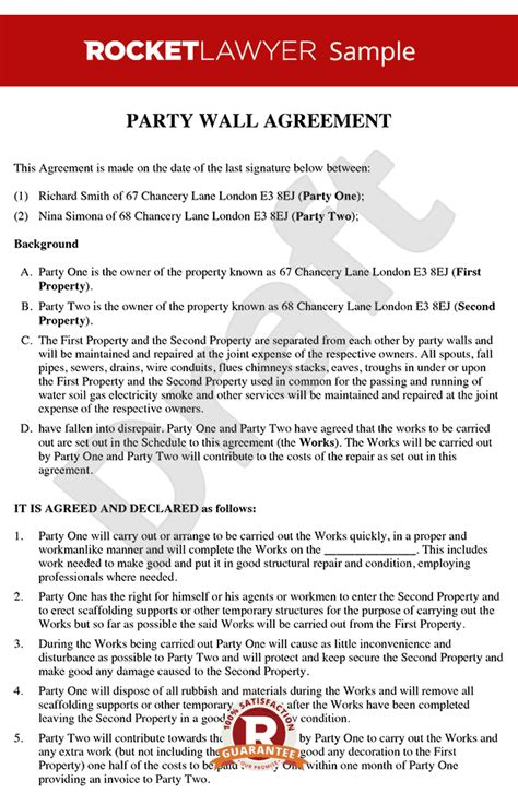 Letter Of Agreement Between Neighbors Wall Agreement Create A Wall Agreement Template