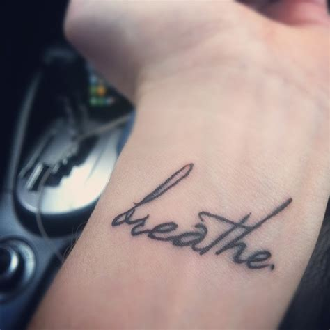 breathe tattoo just breathe in