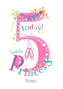 abacus five year birthday card 5 today birthday princess funky pigeon