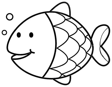 simple fish coloring pages coloring home