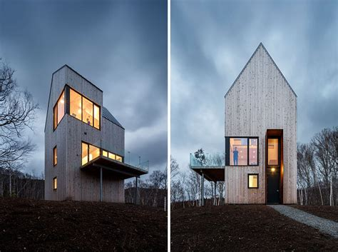 Contemporary Cabin this tall cabin overlooking the canadian coastline is a