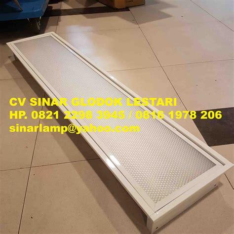 Rumah Lu Tl 36 Watt kap lu tki 2 x 36 watt tutup acrylic prismatic
