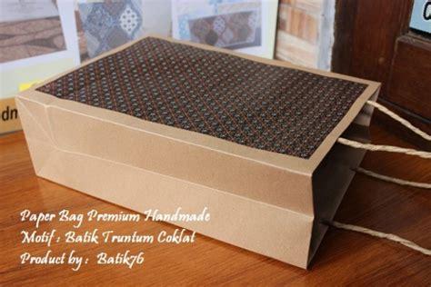 Paper Bag Batik Tas Kertas Batik Tanggung Isi 12pcs jual paperbag tas kertas handmade batik motif truntum coklat kartu ucapan batik kartu ucapan