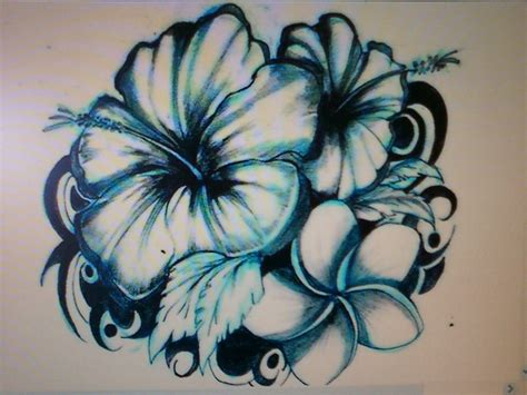 hawaiian hibiscus tattoo designs hawaiian flower designs big impression on