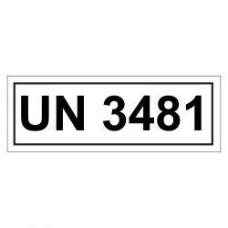 Un Aufkleber Bestellen by Un Verpackungskennzeichen Mit Un 3481 Aufkleber Shop