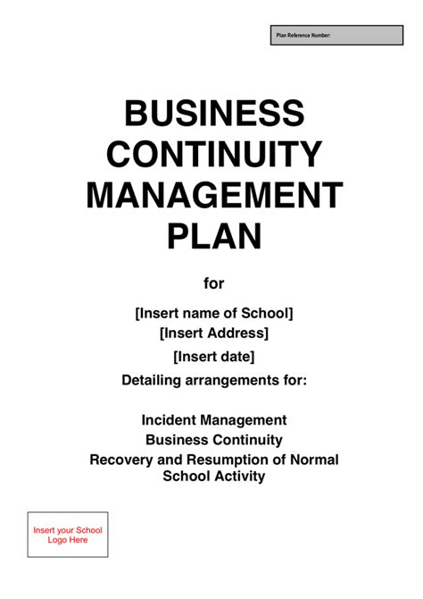 business continuity plan template doc school business continuity plan template in word and pdf
