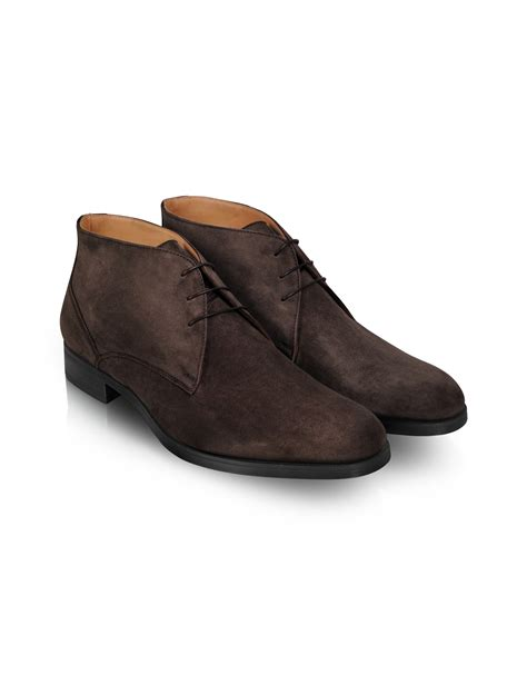 moreschi stiria brown suede ankle boots in brown